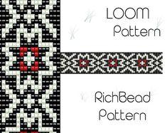 Beaded loom pattern PDF seed bead bracelet DIY beading