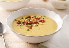 Cheeseburger Chowder, Food, Cream Soups, Sprouts, Drinks, Meal, Meals, Yemek, Eten