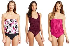 one-piece swimsuits for apple shape women