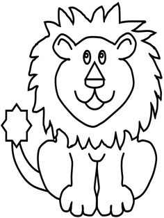 lion with funny face coloring pages for kids printable lions and tigers coloring pages for kids