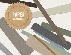 Scanned paper textures in 12 earthy colors for all of your seamless tiling needs.