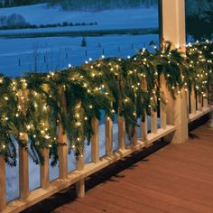 # Christmas Greenery I wish I had a big wrap around porch!