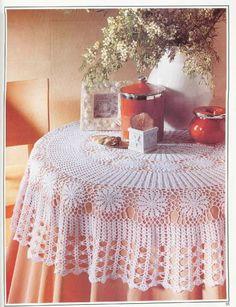 Crochet: manteles - maomao - Yo la acción del corazón