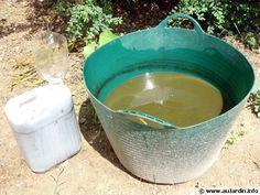 Un purin d'orties après 10 jours filtrer et pulvériser sur les mauvaises herbes