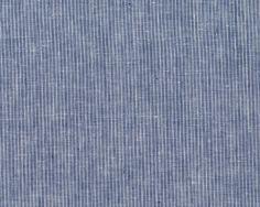 Feiner+italienischer+Leinenstoff+LAURENZO,+schmale+Streifen,+blau+meliert-weiß
