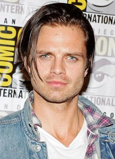 Sebastian Stan - idk what it is about this picture but I love it. Could be his gorgeous eyes...or that goofy look on his face xD