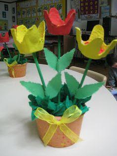 RECURSOS DE EDUCACION INFANTIL: PRIMAVERA Mothers Day Crafts, Crafts For Girls, Arts And Crafts, Diy Crafts, Egg Carton Crafts, Celebration Around The World, Art Activities For Kids, Spring Art, Plantation
