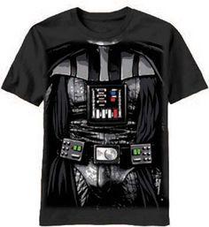 Amazon.com: Star Wars Tee Darth Vader Costume Kids Youth T-Shirt: Clothing