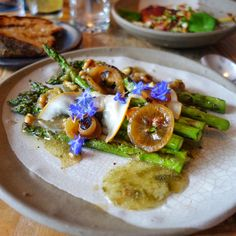 Spring Asparagus - Pickled Onion and Walnut Vinaigrette, Macedonian Feta at Burdock