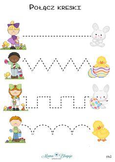 szlaczki wielkanocne Preschool Lesson Plans, Preschool Letters, Preschool Printables, Preschool Worksheets, Preschool Activities, Kids Activities At Home, Educational Activities For Kids, Kids Learning, School Posters