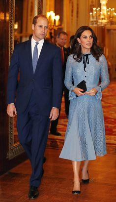 In honor of World Mental Health Day, the Duchess of Cambridge attended a reception at St. James Palace along with Prince William and Prince Harry