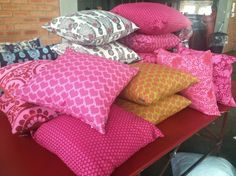 We love pillows in all different colours!