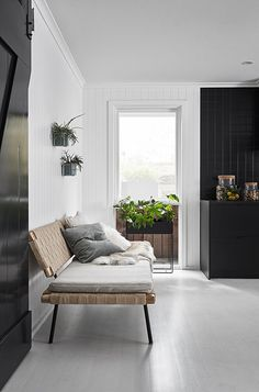 Sinnerlig daybed by Ilse Crawford for Ikea.  Nord House in Australia is a Scandi style weekend getaway just outside Melbourne designed by Poss Samperi of Orchard Keepers on the Mornington Peninsula.