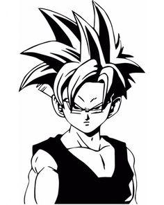 Dbz Dragon Ball Z Super Saiyan Gohan Vinyl Decal Sticker Ssj2, Ball Drawing, Dragon Ball Gt, Dragon Ball Z Shirt, Fan Art, Sketches, Super Saiyan, Goku Super, Label Stickers
