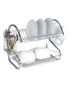 Frigidaire Stainless Steel Two-Tier Dish Rack | zulily