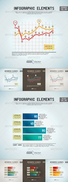Infographic Elements - Line Graph And Bar Graph - Infographics