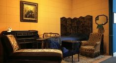 The replica of Marcel Proust's bedroom in the Musée de Carnavalet (source: DAC / L. Degraces-Khoshpanjeh, R. Briand)