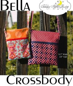 Easy crossbody bag sewing pattern. This handy DIY crossbody bag to sew comes in two sizes in the same pattern. The small crossbody bag is great for essentials and for a cell phone pouch to sew, and the larger size can be your every day bag to carry. Both have an outside zipper pocket and a zipper top closure. Beginners will love these two easy bags to sew. SewModernBags Purse Organizer Pattern, Wallet Pattern, Bag Patterns To Sew, Sewing Patterns Free, Handbag Patterns, Free Sewing, Free Pattern, Japanese Knot Bag, Day Bag