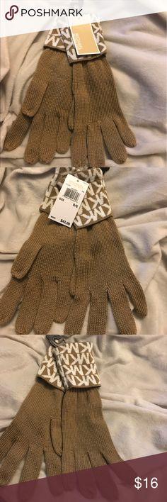 Michael Kors tan gloves Never worn tan MK gloves Michael Kors Accessories Gloves & Mittens