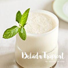 BEBIDA TROPICAL DE ANANAS E COCO