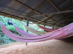 Slapen in een hangmat tijdens de trekking naar Ciudad Perdida.