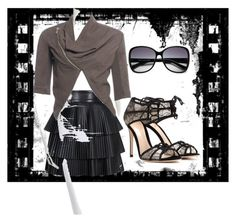 """Untitled #40"" by tinachagnon on Polyvore featuring Balmain, Gianvito Rossi, Rick Owens, Vince Camuto, women's clothing, women's fashion, women, female, woman and misses"