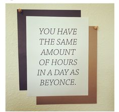 Inspiration lol. Beyonce is amazing!