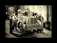Video of old time retro semi trucks from the early 1900s'.