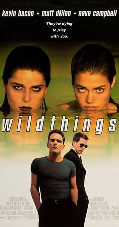 Wild Things [R] 108 mins. Starring: Kevin Bacon, Matt Dillon, Neve Campbell, Denise Richards, Robert Wagner and Bill Murray 90s Movies, Hindi Movies, Great Movies, Movie Tv, Awesome Movies, Watch Movies, Horror Movies, Matt Dillon, Neve Campbell