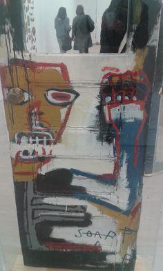 Jean-Michel Basquiat Artist Painting Detail Door Saatchi Gallery London