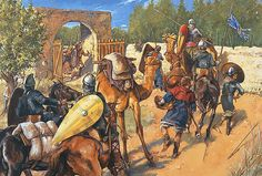 """A crusader supply unit is ambushed outside Damascus (27 july 1148)"", Christa Hook"