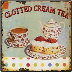 Cornish Cream Tea Tin Sign (9163) | Canvases, Clocks & Other Printed ...