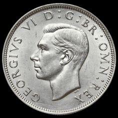 1939 George VI Silver Half Crown
