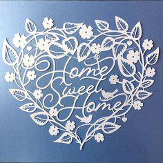 Papercut Template 'Home Sweet Home' New Home Love by SASCreative