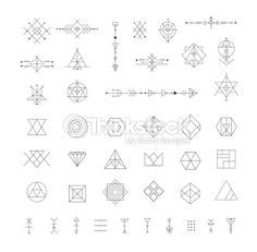 Vector Art : Set of vector trendy geometric icons.