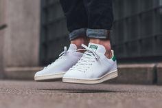adidas Stan Smith OG Primeknit in White & Green