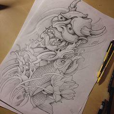 Need to plan colors yet.. Leg sleeve design. #japanesetattoo #tattoo #tatuaz #tattoos #tattoosnob #tattooistartmag #tattoodesign #custom #customdesign #customtattoo #gdansk #gdynia #sopot #inked_fx #inkedmag