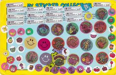 Vintage Scratch N Sniff Stickers