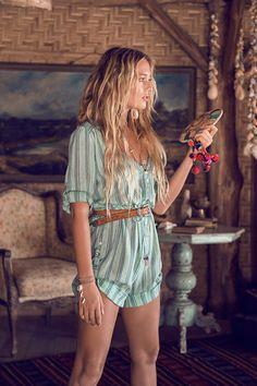 Island Boho Playsuit – Turquoise. Super cute