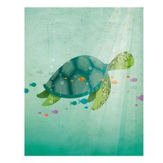 Nursery art print Sea turtle nursery print by IreneGoughPrints Sea Turtle Nursery, Ocean Nursery, Baby Wall Art, Nursery Wall Art, Ocean Artwork, Whale Art, Animal Decor, Baby Scrapbook, Nursery Prints