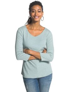 Gia Heathered Shirttail Top