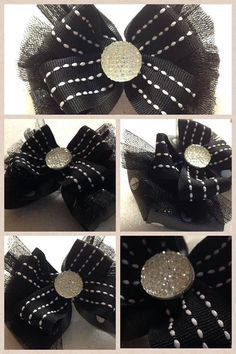 Hair Bow by HelloKourtneyBows on Etsy, $8.00