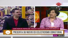 "Juan Marcos Tripolone presenting his album ""Eclecticismo Conjetural"" on Canal 8 TV Presents, Album, Tv, Product Development, Frames, Musica, Gifts, Television Set, Favors"