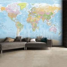 World map wallpaper buy online maps international best games world map wallpaper mural wallpaper mural at art gumiabroncs Choice Image