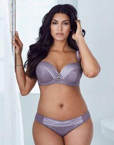 plus size satin flirt bustier bikini