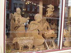 Cardboard Nativity! Mackin-Art/ Shannon Berrey Design Blog