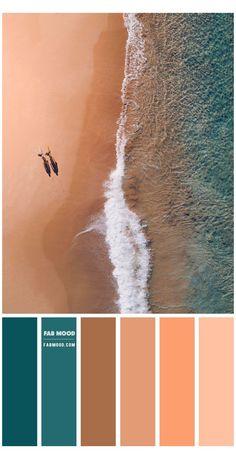 Beach Color Palettes, Color Schemes Colour Palettes, Room Color Schemes, Neutral Colour Palette, Peacock Color Scheme, Color Combos, Copper Colour Scheme, Earth Colour Palette, Beach Color Schemes