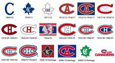 canadiens_logo_history Montreal Canadiens, Mtl Canadiens, Montreal Ville, Of Montreal, Hockey Mom, Hockey Teams, Hockey Stuff, Nfl Highlights, Canadian Things