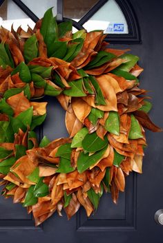 HOW TO magnolia leaf wreath