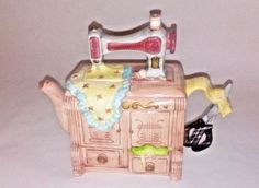 Sewing-Machine-Teapot-Collectible-Decorative-Large-Tea-pot